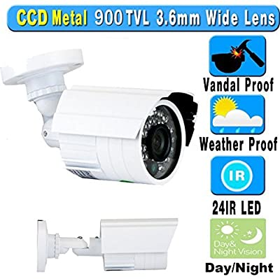 GW Security 16CH 960H Video Surveillance Camera System with 16 x 900TVL Hi-Resolution Built-in Wide Angle Lens Weatherproof CCTV Outdoor Security Surveillance Cameras and Pre-Installed 3TB Hard Drive