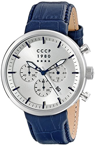 CCCP Men's CP-7007-05 Kashalot Dress Analog Display Japanese Quartz Blue Watch