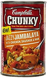 Campbell\'s Chunky Soup, Jazzy Jambalaya with Chicken Sausage & Ham, 18.6 Ounce (Pack of 12)