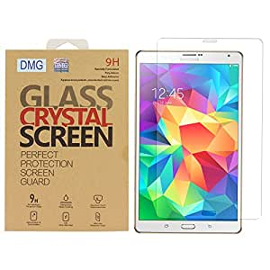 DMG 2.5D Tempered Glass Screen Protector for Samsung Galaxy Tab S- 8.4 - SM-T705 (No Fingerprints Anti-Scratch Oil Coated Washable)