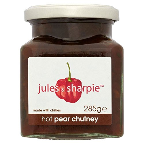 Jules & Sharpie Hot Pear Chutney (285g) - Packung mit 6