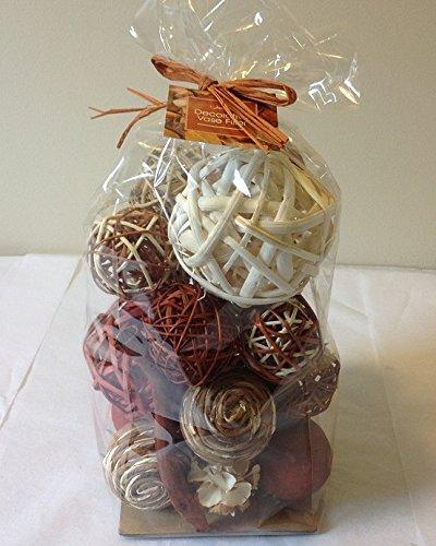 Jodhpuri Inc Decorative Spheres Dark Orange Rattan Vase Filler