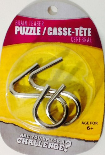 Disentanglement Puzzle ~ Physical Brain Teaser ~ Steel Metal ~ 'Note' ~ Difficulty Level 1 Beginner