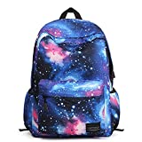 Caroata Galaxy Pattern Vintage Style Unisex Fashion Casual School Travel Laptop Backpack Rucksack Daypack Tablet Bags