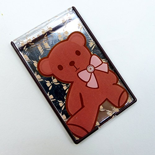 二つ折りファンシーコンパクトミラー クマのぬいぐるみ CMー511