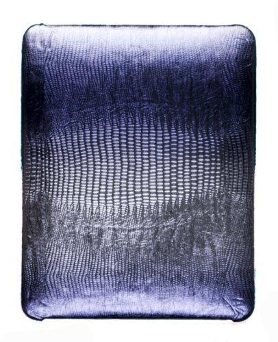 Hard 2-Tone Metallic Alligator Case for Apple iPad (Original iPad) - Dark Purple