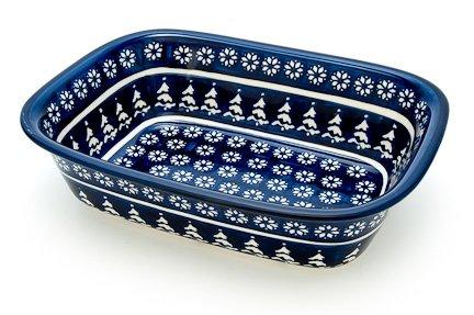 Polish Pottery Winter Nights Loaf Baker