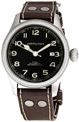 Hamilton Men's H60455533 Khaki Field Team Earth Black Dial Watch