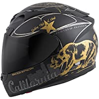 Scorpion EXO-R710 Golden State Street Motorcycle Helmet (Black, Medium) by Scorpion