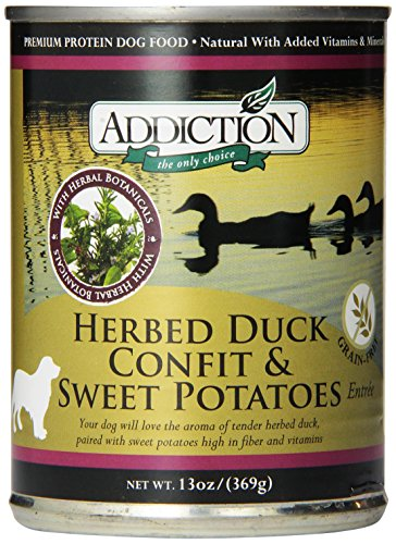 Herbed Duck Confit and Sweet Potatoes Entrée- Dog Food (12/13 Ounce Cans) (Addiction Canned Dog Food compare prices)