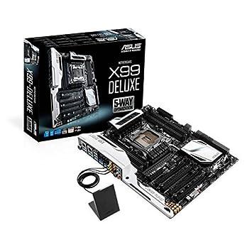 Asus X99-DELUXE LGA2011-v3/ Intel X99/ DDR4/ Quad CrossFireX & Quad SLI/ SATA3&USB3.0/ M.2&SATA Express/ WiFi/ A&2GbE/ ATX Motherboard