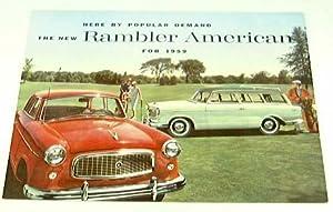1959 59 AMC RAMBLER AMERICAN BROCHURE Super Deluxe Club