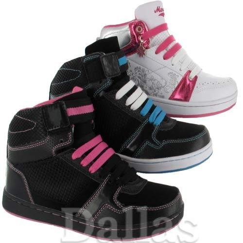 IMPRESSIONZ-Ladies High HI Tops Trainers Womens Girls Ankle Baseball School Dance Shoes Size