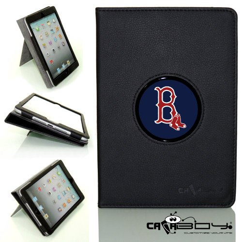 New SLEEP SMART Apple iPad Air (5th Gen) Ipad 5 leather Case By Calaboy- Interchangeable Design - Personalized Picture Frame w Boston Red Sox Logo (BB4) at Amazon.com