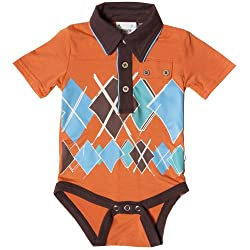 Fore Axel And Hudson Cotton Baby Boy Shirts (12S111-Ct -Orange -9-12 M)