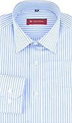 HASTINGS Men's Formal Shirt (V90_40, Blue, 40)
