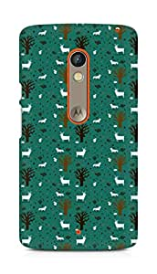 Amez designer printed 3d premium high quality back case cover forMotorola Moto X Play (goat pattern green)