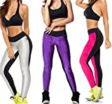 Womens High Waist Stretch Skinny Shiny Spandex Leggings Pants Slim Fit Tights