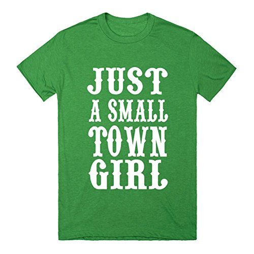 Just A Small Town Girl Southern Sayings Country Rodeo T Shirt | 3XL Heathered Kelly Green T-Shirt
