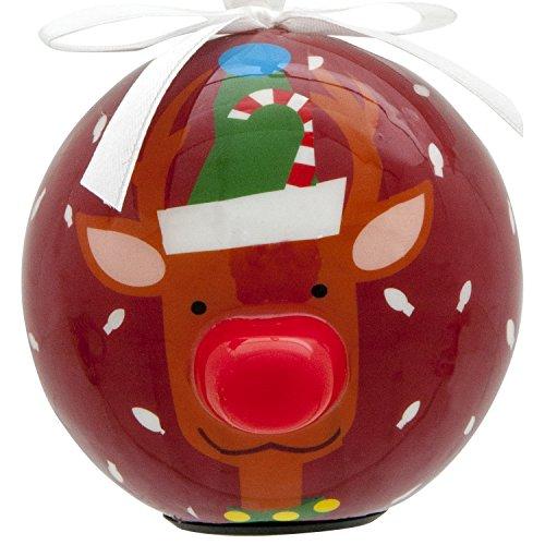 Light-Up Christmas Ornament With Blinking Led Light - Reindeer