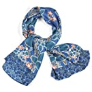 Voysey 'Birds & Roses' Silk Scarf||EVAEX