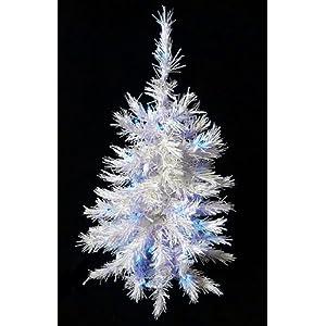 #!Cheap 2' Pre-Lit White Artificial Christmas Tree - Blue Lights