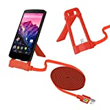 XTRA 1.2 Meter Multi-Function Holder Micro High Speed USB 2.1 Data Transmit Cable For Android Devices