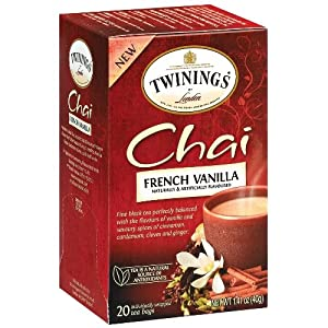 Twinings French Vanilla Chai Tea 20 Count, Pack of 2 from Twinings