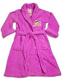 Sweet n Sassy - Little Girls\' Microfiber Winter Monkey Robe, Purple 30206-14/16
