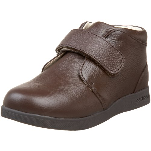 Pediped Flex Dylan Hook And Loop Velcro Ankle Boot (Toddler/Little Kid),Chocolate Brown,22 Eu (6-6.5 M Us Toddler)