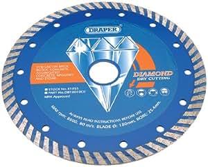 Draper 41855 Disque diamant Turbo-Rim 180 x 25,4 mm (Import Grande Bretagne)