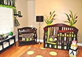 10pc Frog Nursery Crib Bedding Set Brown &#038; Green - Pollywog Pond