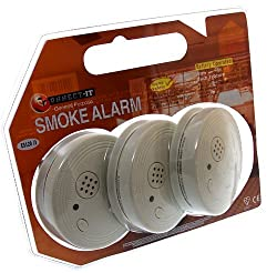 Eurosonic Smoke Alarm Battery-operated Alarm Ref ES120 [Pack 3] from Connect-it