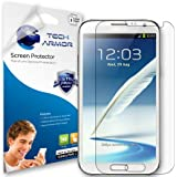 Tech Armor Samsung Galaxy Note II Smartphone High Defintion (HD) Clear Screen Protectors - Maximum Clarity and Touchscreen Accuracy [3-Pack] Lifetime Warranty