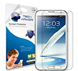 Tech Armor Samsung Galaxy Note II Smartphone HD Clear Screen Protectors with Lifetime Replacement Warranty [3-Pack]