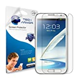 Tech Armor Samsung Galaxy Note II Smartphone High Defintion (HD) Clear Screen Protectors - Maximum Clarity and Touchscr ~ Tech Armor