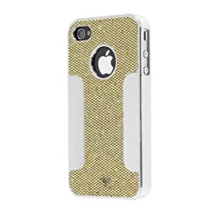 Chromo Inc® Sparkle Dot Pattern Case with Metallic Accent Grip for the iPhone 4 and 4S - Gold