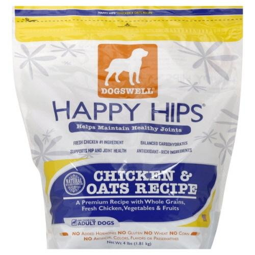 Dogswell, Treat Chkn Oats Happy Hips, 4 Lb (Pack Of 6)