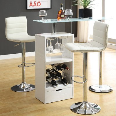 Coaster Home Furnishings Contemporary Bar Table, White front-302781