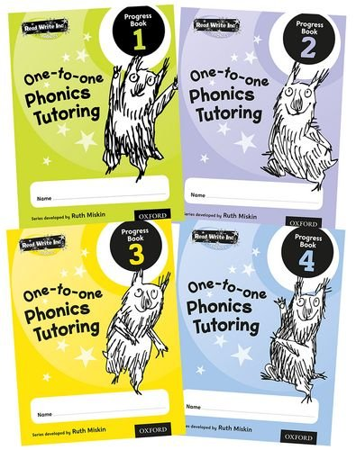 Read Write Inc.: Phonics One-to-One Phonics Tutoring Progress Book Mixed Pack of 4