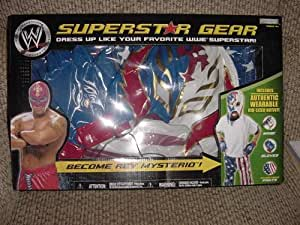 WWE JAKKS REY MYSTERIO KIDS ROLE PLAY COSTUME WITH MASK PANTS & PAIR OF GLOVES