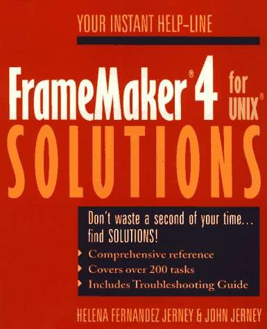 Framemaker 4 for UNIX Solutions