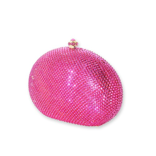 Garnet Swarovski Crystal Clutch Bag