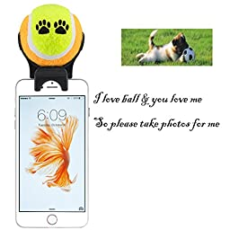 Smartphone Attachment Selfie Stick for Pet (yellow)
