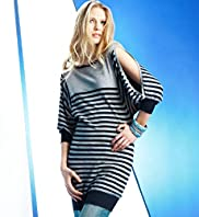 Limited Collection Boat Neck Stripe Tunic