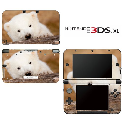 Cute Polar Bear Cub Decorative Video Game Decal Cover Skin Protector For Nintendo 3Ds Xl front-267261