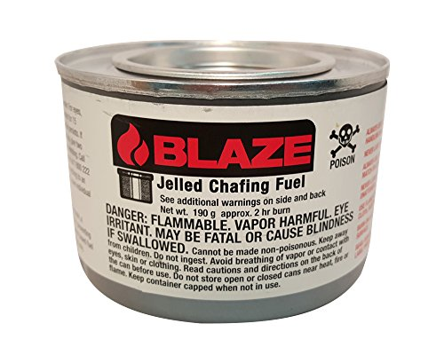 Blaze Products GB100L 2 Hour Jelled Methanol Chafing Dish Fuel, 72 count