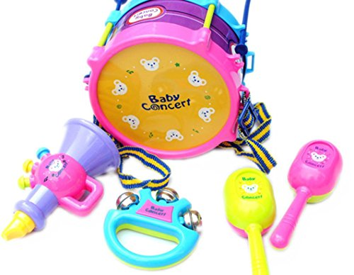 Educational Toys,Baomabao 5pcs Kids Baby Roll Drum Musical Instruments Band Kit Children Toy