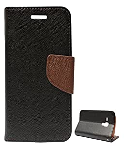 DMG Mercury Goospery Case Fancy Diary Flip Wallet Cover for Samsung Star Pro s7262 (Black Brown)