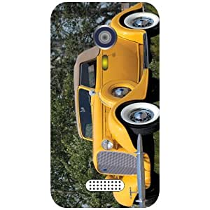 Micromax A 116 Phone Cover - Yellow Car Matte Finish Phone Cover